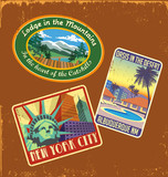 vintage travel stickers 1 poster