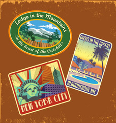 vintage travel stickers 1