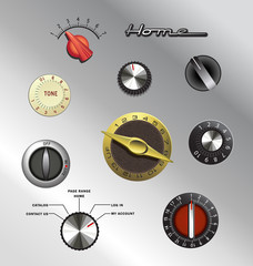 vintage knobs set 2