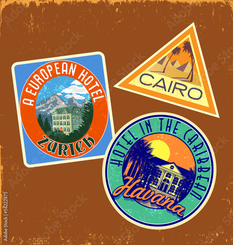 vintage travel stickers 2