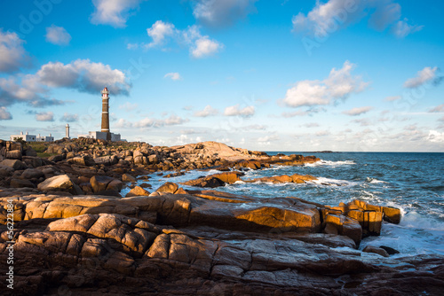 Leinwanddruck Bild Lighthouse in Cabo Polonio, Rocha, Uruguay