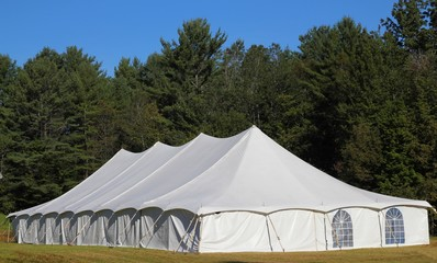 giant white entertainment tent