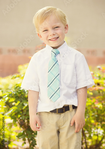 Handsome young Boy Portrait outdoors
