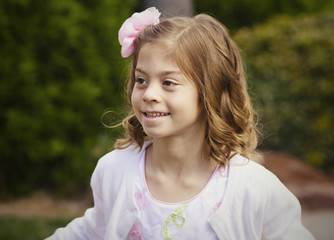 Beautiful Little Girl Portrait. Adorable happy face