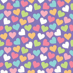 Seamless vintage hearts background