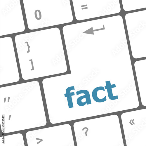 fact button on keyboard - business concept, raster