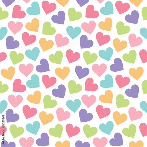 Seamless vintage heart background in pretty colors