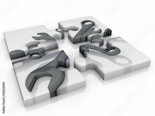 the puzzle key of work