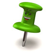 Fun green thumbtack