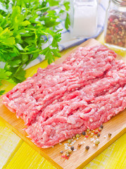 minced meat with spice