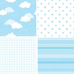 Seamless blue baby backgrounds