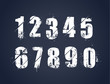 Grunge dirty painted numbers