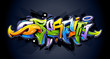 Bright graffiti lettering - 56229057