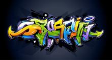 Lettrage de graffiti lumineux