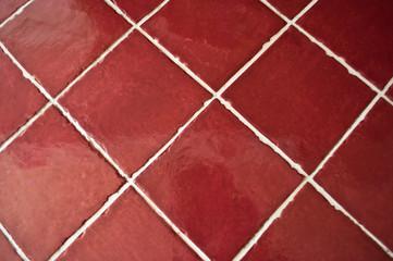 carrelage rouge de cuisine