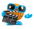 Basketball with clapperboard