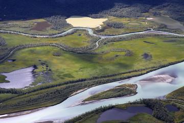 Das Rapadelta im Sarek-Nationalpark in Schweden