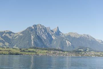 Thunersee, Berner Oberland, Schweizer Alpen, Stockhorn