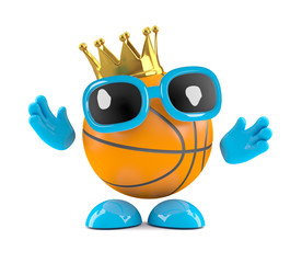 Basketball wears the winners gold crown