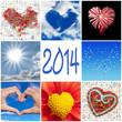 2014, collage coeurs ciel