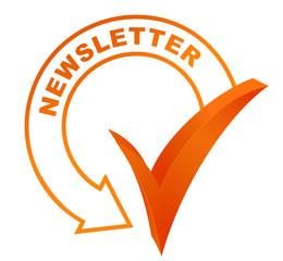 newsletter sur symbole validé orange