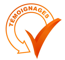 témoignages sur symbole validé orange