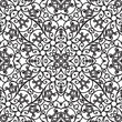 Vintage monochrome seamless pattern