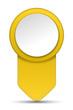 Pfeil Pin gelb