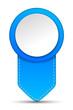 Pfeil Pin blau