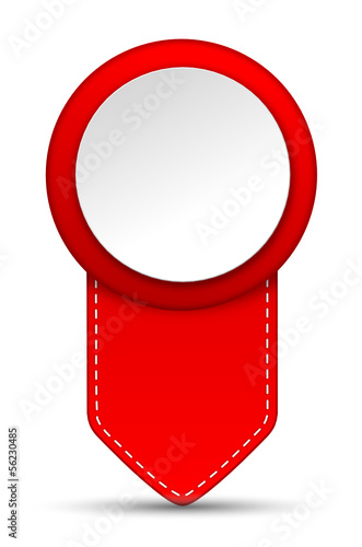 Markierung Pin rot