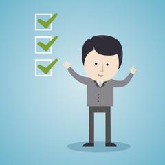 Geschäftsman, Management, Erfolg, Checkliste, to do