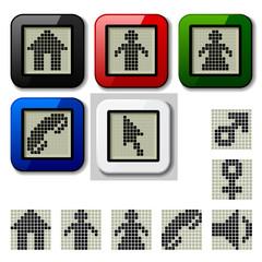 vector LCD display pixel symbols