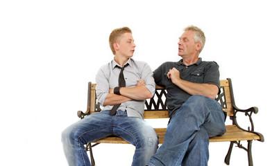 Diskussion zwischen Vater und Sohn