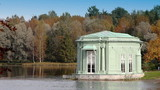 Ancient pavilion in palace park.Gatchina.Petersburg.