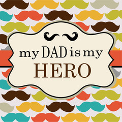 Father Day Mustache Vector Background