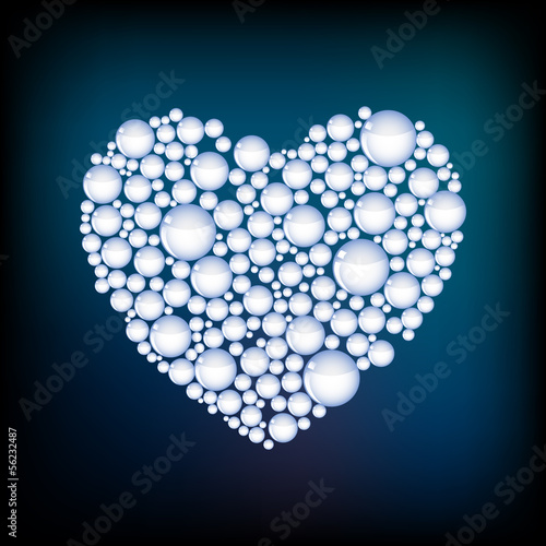 Vector heart from bubbles