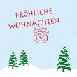 fröhliche weihnachten schneelandschaft mit tannenbäumen
