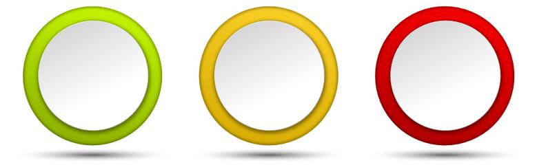 Button Set rund Farben