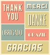 Thank You Vintage Poster