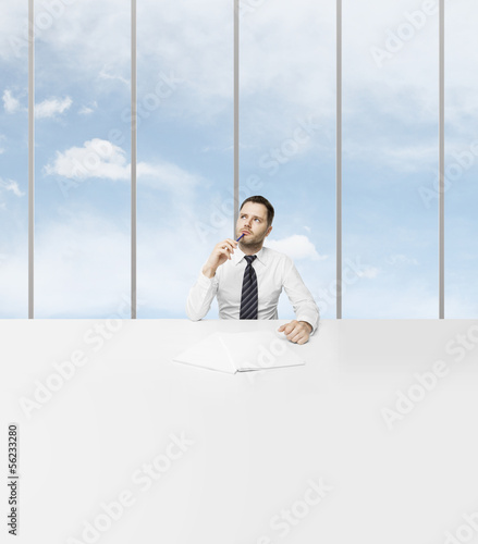 businessman sitting in office