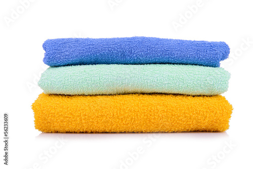 Towel stack Isolated