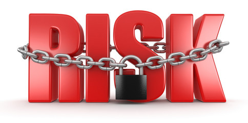 risk and lock (clipping path included)