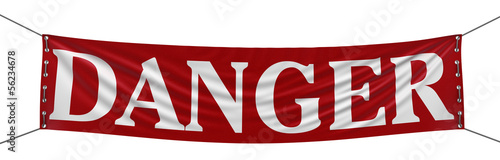 Danger Banner (clipping path included)