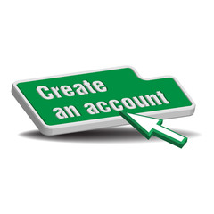 Create an account button