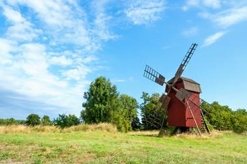 Alte Windmühle in Schweden, Insel Öland