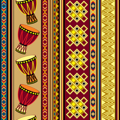 vector background with african drum