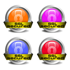 SSL secured icon set
