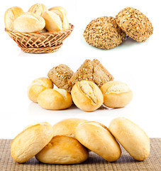 Bread roll collection. Buns set.