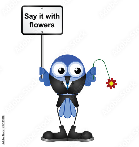 Comical say it with flowers sign