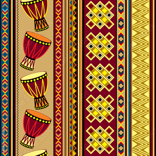 vector background with african drum - 56235451